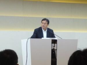 日本スポーツツーリズム推進機構会長の原田宗彦氏による締めのあいさつ