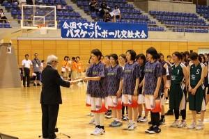 さいたま市記念総合体育での表彰式の写真
