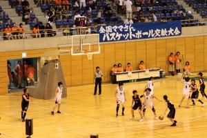 さいたま市記念総合体育館での日韓親善試合の写真
