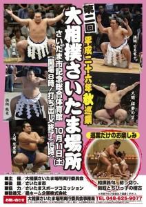 第二回大相撲さいたま場所ポスター写真