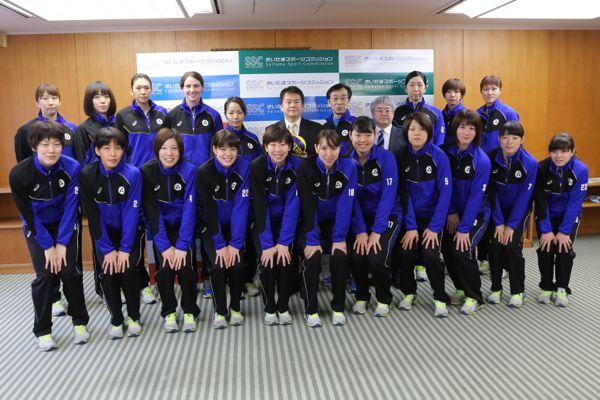 女子バレーボール「上尾メディックス」の選手及び関係者が表敬に訪れました!